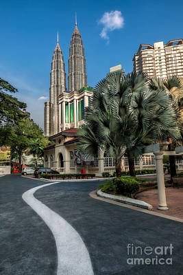 Twin Towers Photograph - Petronas Towers by Adrian Evans