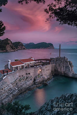 Photograph - Petrovac Castello Fortress After Sunset by Antony McAulay