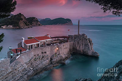 Photograph - Petrovac Castello Fortress At Dusk by Antony McAulay
