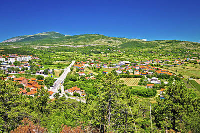 Photograph - Petrovo Polje And Town Of Drnis View by Brch Photography