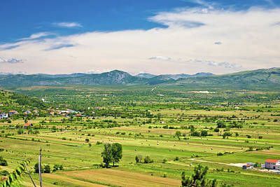 Photograph - Petrovo Polje Field Aerial View by Brch Photography