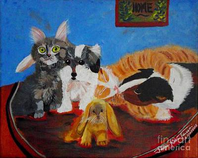 Painting - Pets Home by Jayne Kerr