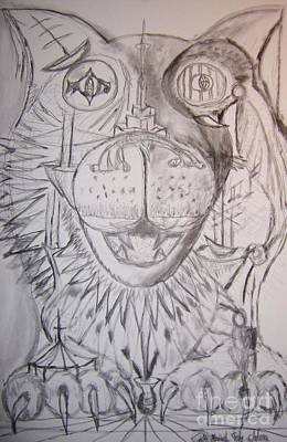 Surrealism Royalty-Free and Rights-Managed Images - Pets Pause Pencil Drawing by Timothy Michael Foley