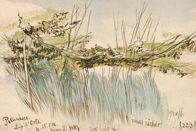 Drawing - Pettenasco, Lago D'orta by Edward Lear