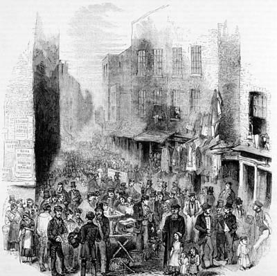 Petticoat Lane, London, On A Sunday Art Print by Everett