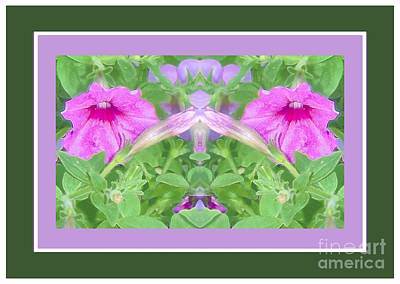Photograph - Petunia Face by Shirley Moravec