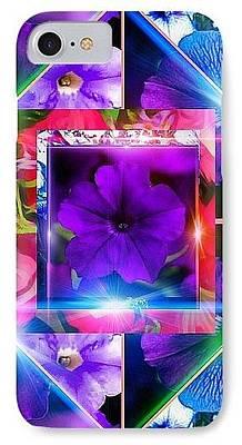 Digital Art - Petunia Maze Iphone by Gayle Price Thomas