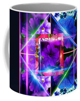 Digital Art - Petunia Maze Mug by Gayle Price Thomas