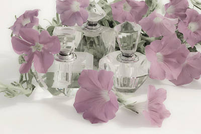 Victoria Magazine Style Photograph - Petunias And Perfume - Soft by Sandra Foster