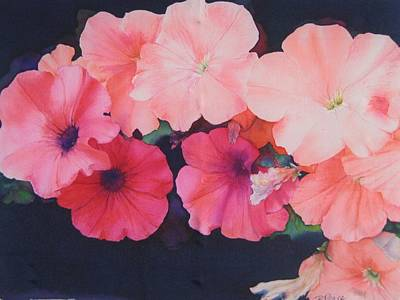 Painting - Petunias by Barbara Pease