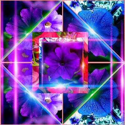 Digital Art - Petunia's Glaze Maze by Gayle Price Thomas