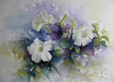 Painting - Petunias In Summer by Elena Oleniuc