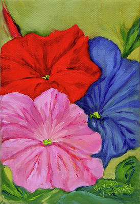 Painting - Petunias Mixed by Vicki VanDeBerghe