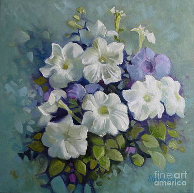 Painting - Petunias Symphony by Elena Oleniuc