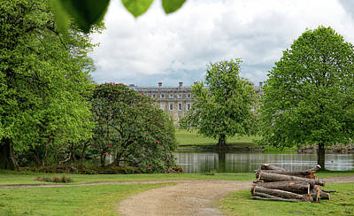 Petworth House On Lake Art Print by Michael Hope