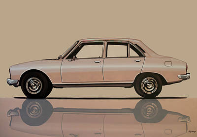 Painting - Peugeot 504 1968 Painting by Paul Meijering