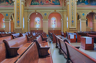 Photograph - Pews - Saint Mary Of The Angels - Chicago by Nikolyn McDonald