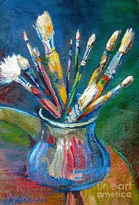Bfa Painting - Pewter Jar by Vanessa Hadady BFA MA