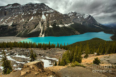 Photograph - Peyto Blue Under Stormy Skies by Adam Jewell