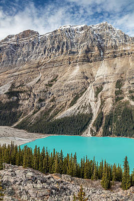 Photograph - Peyto Lake Alberta by Pierre Leclerc Photography