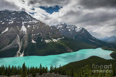 Photograph - Peyto Lake Cloudscape by Mike Reid