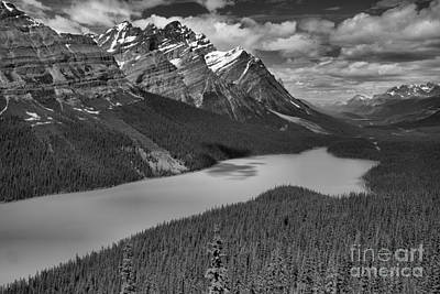 Photograph - Peyto Lake Endless Blues Black And White by Adam Jewell