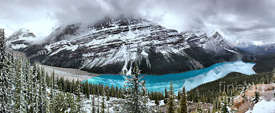Photograph - Peyto Lake Extra Wide Spring Panorama by Adam Jewell
