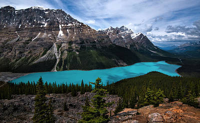 Photograph - Peyto Lake In Banff National Park Canada by Dave Dilli