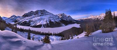 Photograph - Peyto Lake In Purple by Adam Jewell