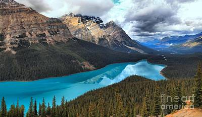 Peyto Lake Reflections Art Print by Adam Jewell