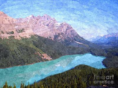 Park Scene Digital Art - Peyto Lake by Sharon Patterson