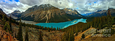 Photograph - Peyto Lake Stormy Sunrise by Adam Jewell