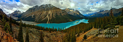 Photograph - Peyto Lake Sunrise Panorama by Adam Jewell