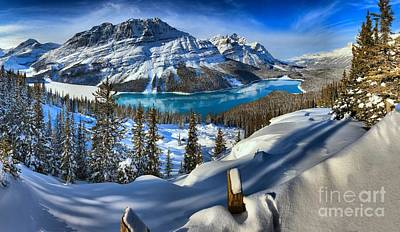 Photograph - Peyto Lake Winter Paradise by Adam Jewell