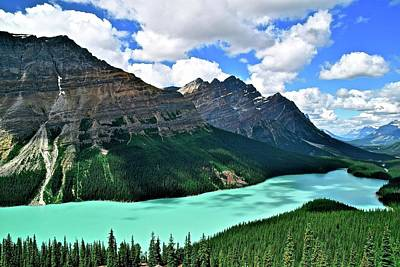 Photograph - Peyto Perfection by Frozen in Time Fine Art Photography