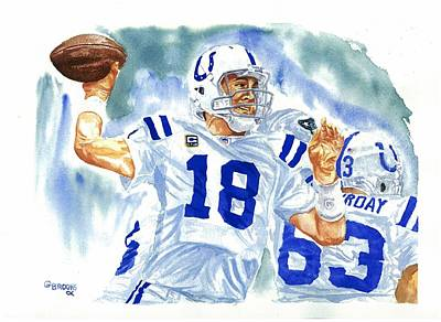 Peyton Manning - The Technician Original by George  Brooks