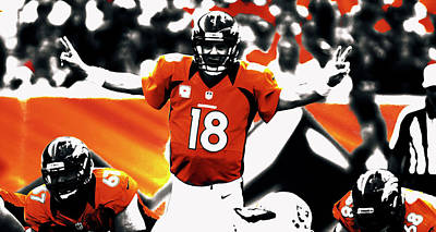 Espn Mixed Media - Peyton Manning 18a by Brian Reaves