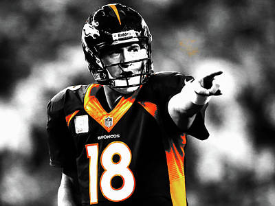 Espn Mixed Media - Peyton Manning 19a by Brian Reaves