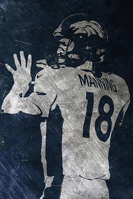 Painting - Peyton Manning Broncos 2 by Joe Hamilton