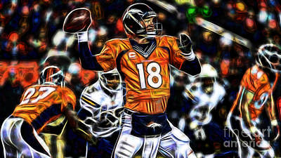 Mixed Media - Peyton Manning Collection by Marvin Blaine