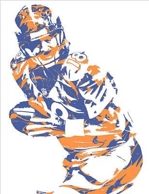 Peyton Manning Denver Broncos Pixel Art 5 Art Print