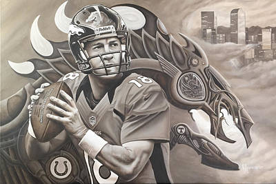 Peyton Manning Original by Justin Ravencrest
