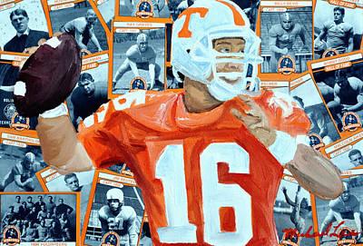 Peyton Manning Painting - Peyton Manning by Michael Lee
