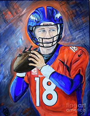 Peyton Manning Art Print by Nicolette Maw