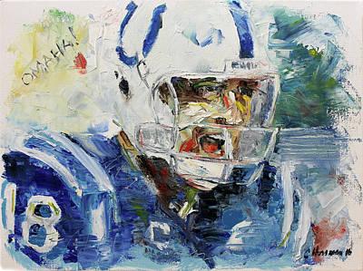 Peyton Manning Painting - Peyton Manning_omaha by Charles Horsman