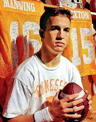Ut Football Painting - Peyton - Super Bowl Dreamin' by Carole Jacobs