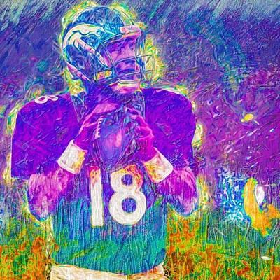 Football Wall Art - Photograph - #peytonmanning #peyton #colts by David Haskett II