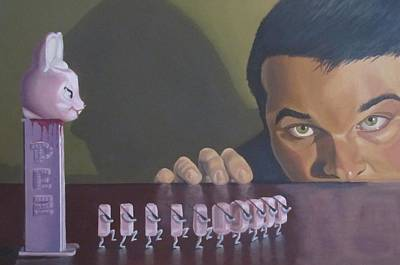 Candy Painting - Pezidents Revenge by Michael Holmes