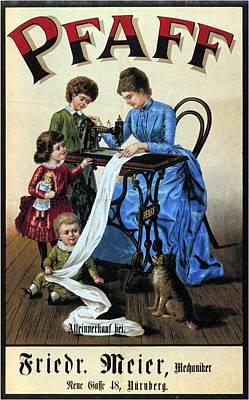 Mixed Media - Pfaff - Sewing Machine - Vintage Advertising Poster by Studio Grafiikka