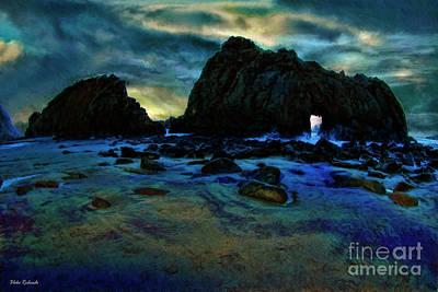 Photograph - Pfeiffer Beach After Sun Set  by Blake Richards